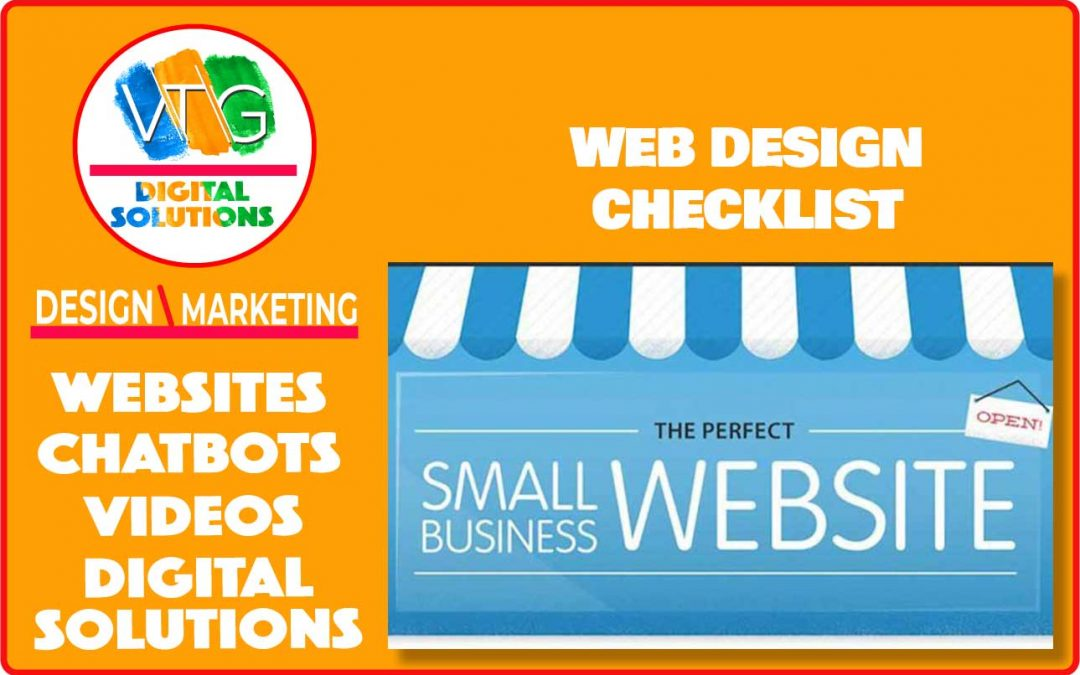 Checklist For Small Business Web Design | VTG Business Group